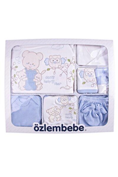 Bebek mavi  Zıbın Seti