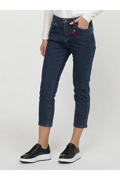 Kadın Lacivert Yüksek Bel Pantolon