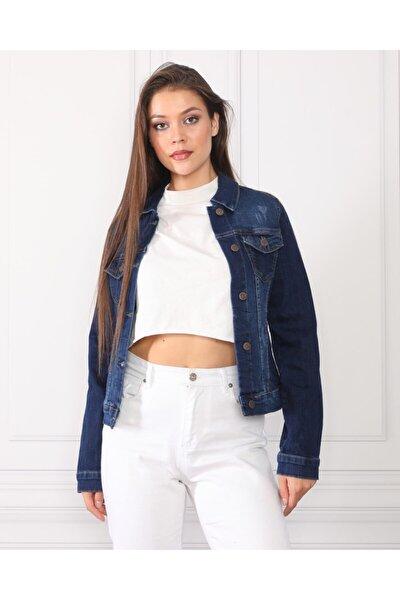 Kadın Lacivert Kot Ceket