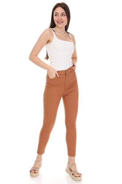Kadın Kiremit Gabardin Pantolon