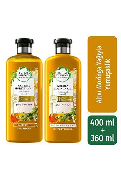 Şampuan Yumuşaklık Altın Moringa Yağı 400 Ml + Saç Bakım Kremi 360 Ml
