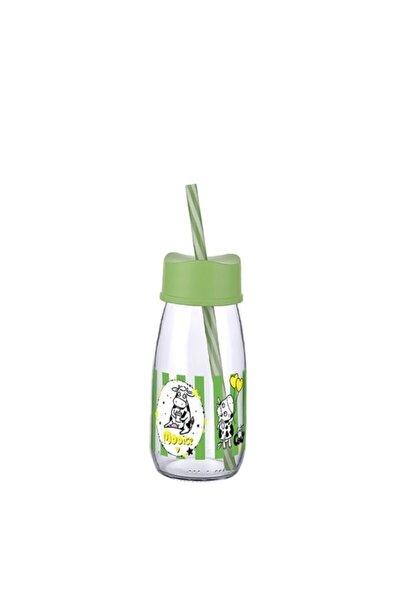 Desenli Cam Süt Şişesi 250 Ml Küçük Boy