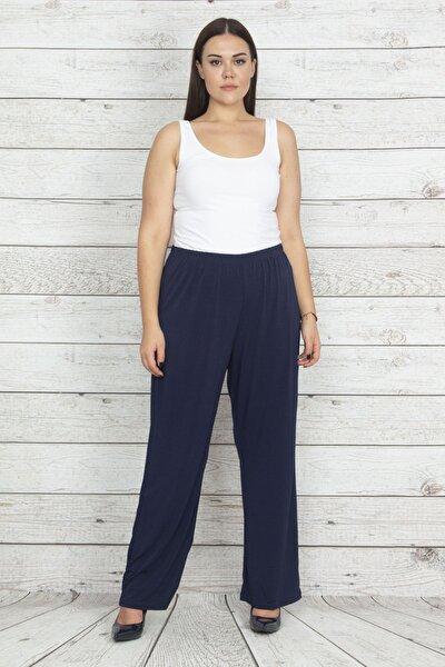 Kadın Lacivert Beli Lastikli Spor Pantolon 65N20401