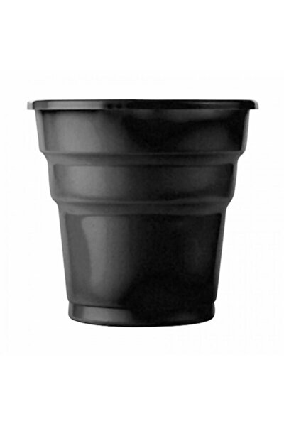 Siyah Plastik Meşrubat Bardağı 25'li