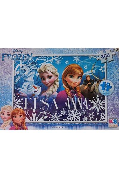 Disney Frozen Puzzle 200 Parça, Lisanslı Eğitici Oyuncak, Çocuk Puzzle