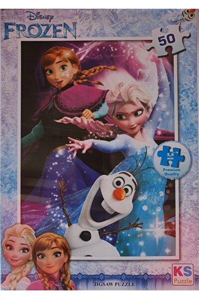 Disney Frozen Puzzle 50 Parça, Lisanslı Eğitici Oyuncak, Çocuk Puzzle