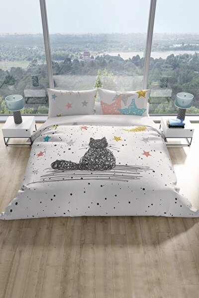 Çift Kişilik Nevresim Takımı Kedi