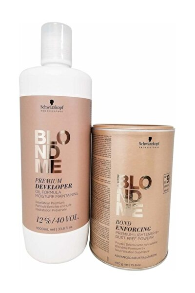 Blondme Premium Lift+9 Açıcı 450 G + Oksidan %12 40 Volume 1000 Ml