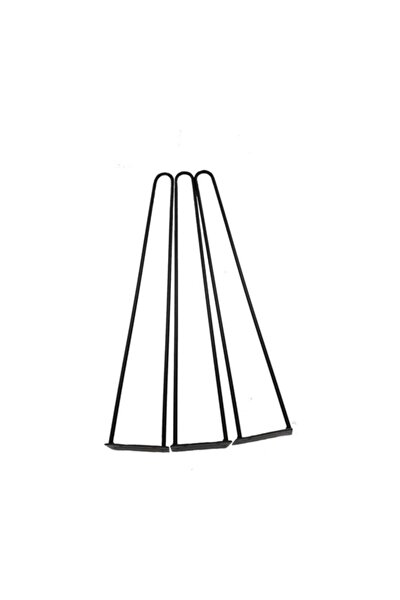 Metal Tel Kütük Ve Ahşap Zigon Sehpa Ayağı Lüx 55 Cm