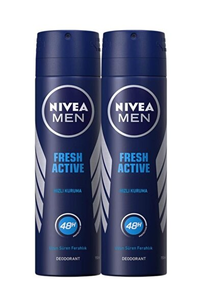 Fresh Active Erkek Sprey Deodorant 150 Ml X 2 Adet Avantajlı Paket