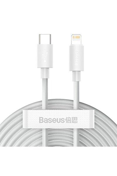 Pd 20w Iphone 12,11,xs,xr Usb-c To Lightning Şarj Kablosu 2 Adet Set 1.5m-beyaz