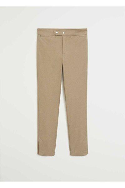 Kadın Orta Kahverengi Dar Kesim Kısa Paçalı Pantolon 67045916