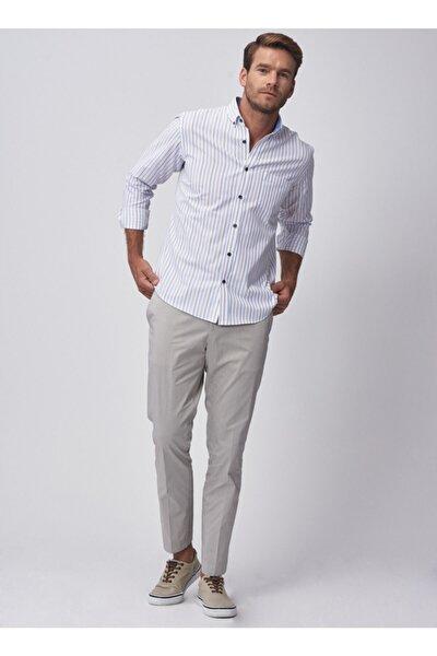 Erkek Taş Slim Fit Desenli Pantolon 4A0119200025