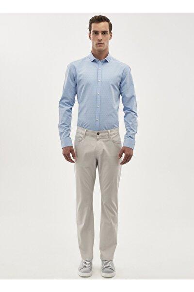 Erkek Taş Regular Fit Desenli Pantolon 4A0118200016