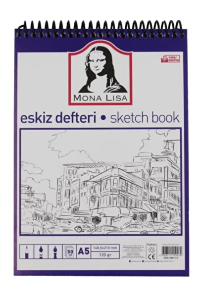 Mona Lisa Eskiz Defteri 120 Gr A5 50 Yaprak Spiralli