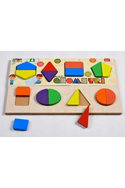 Ahşap Geometri Eğitici Bultak Puzzle Çocuk Oyuncağı