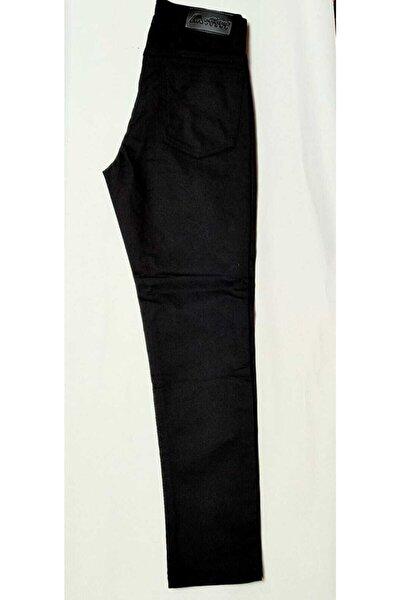 Unisex Çocuk Siyah Full Likralı Keten Pantolon
