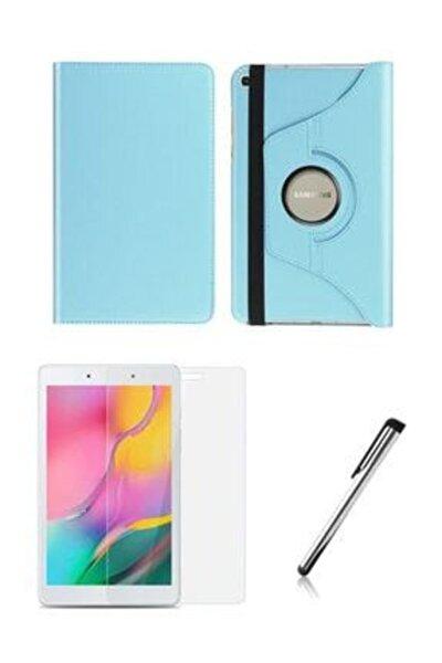 "Samsung Galaxy Tab A Sm T290 / T297 8"" 360 Derece Turkuaz Standlı Tablet Kılıfı Set"