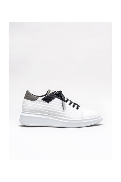 Beyaz Deri Erkek Spor Ayakkabı