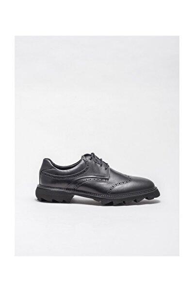 Siyah Deri Erkek Klasik Ayakkabı