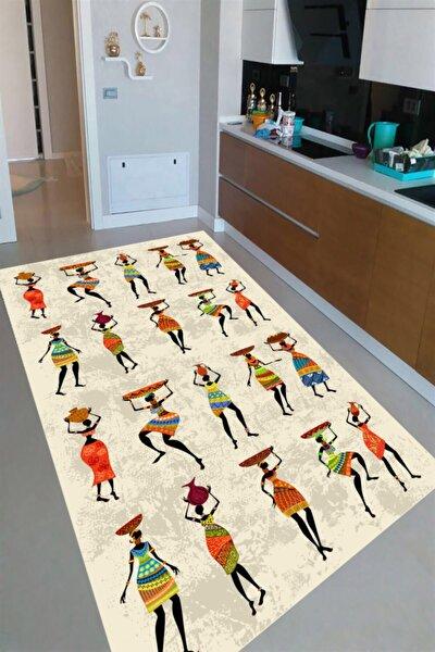 Afrika Yerlileri Tasarımlı Dijital Baskılı Halı Mrc2250