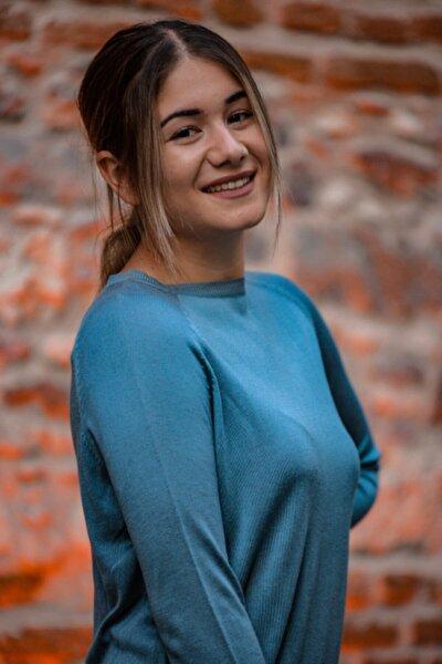 Kadın Mavi İnce Kazak
