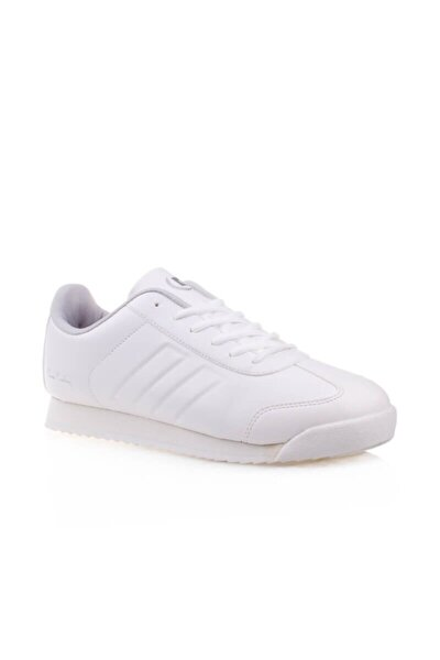 Unisex Beyaz 4 Mevsim Kauçuk Taban Spor Ayakkabı