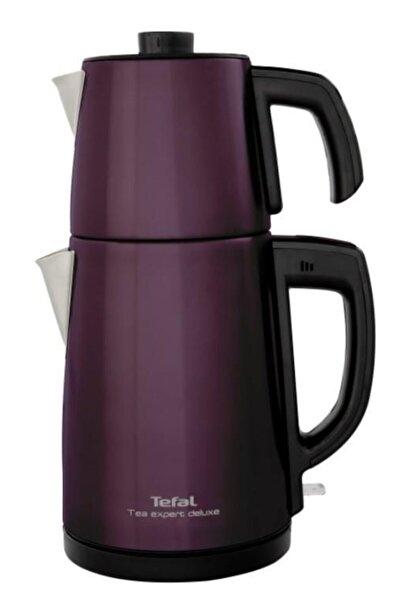 Tea Expert Deluxe Mürdüm 1650 w Çelik Demlikli Çay Makinesi