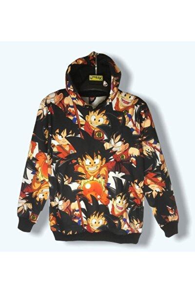Unisex Turuncu Dragon Ball Z Son Goku Sweatshirt