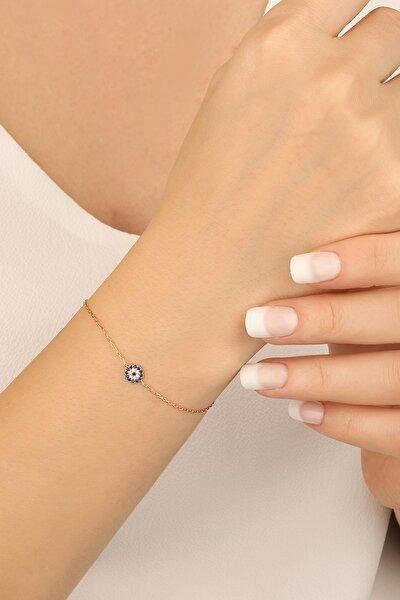 Kadın Pembe 925 Ayar Gümüş Bileklik