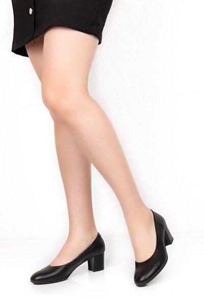 Kadın Hakiki Deri Büyük Numara Alçak Topuklu Ayakkabı