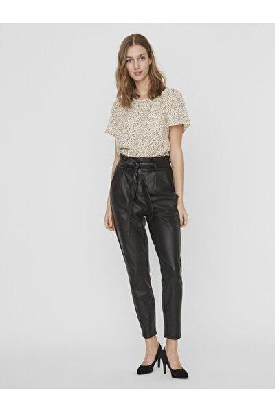 Kadın Siyah Paperbag Kaplama Pantolon 10232661 VMEVA