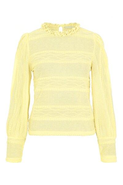 Kadın Sarı Yakası Fırfırlı Bluz 17107930 PCCOLETTE