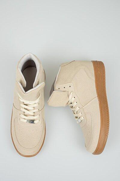 Unisex Bej Süet Sneaker