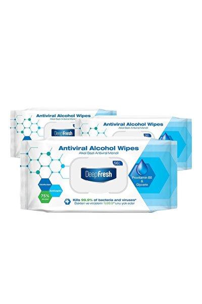 Alkollü Antiviral Islak Mendil 3'lü Paket 168 Yaprak
