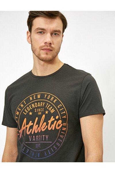 Erkek Yazili Baskili T-shirt