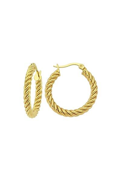 Twisted Hoop Earring - Gold