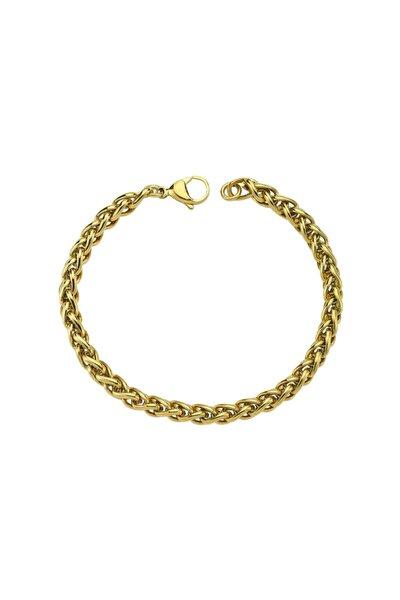 Kadın Çelik Bileklik - Gold