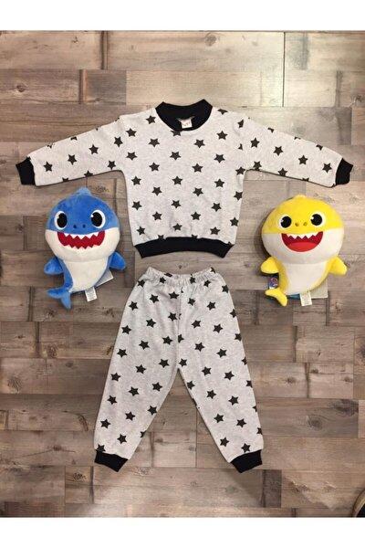 Çocuk Gri Pamuklu Pijama Takımı