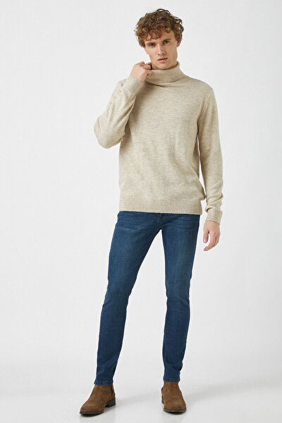 Erkek Petrol Jeans 1KAM43202MD