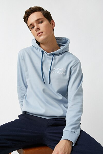 Erkek Açık Mavi Sweatshırt 1YAM71597LK
