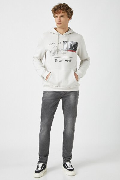 Erkek Gri Jeans 1KAM43225MD