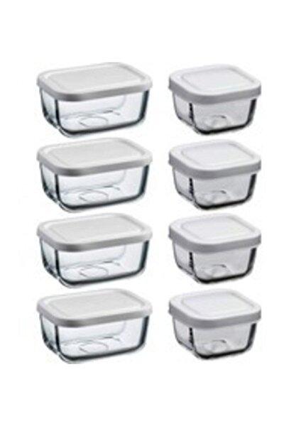 Snowbox 8'li Saklama Kabı Beyaz Kapaklı