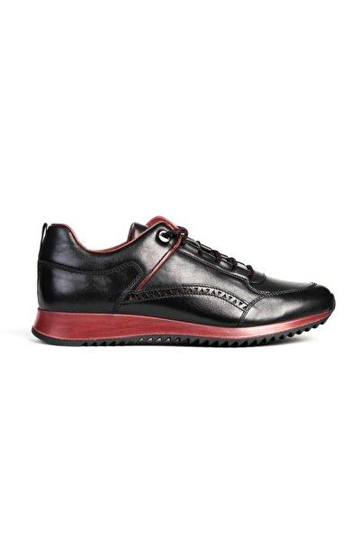 Erkek Sıyah Bordo Sneaker 0K1SA76672