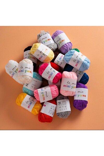 Yün Seti 20 Renk Amigurumi Punch Çok Amaçlı Yün
