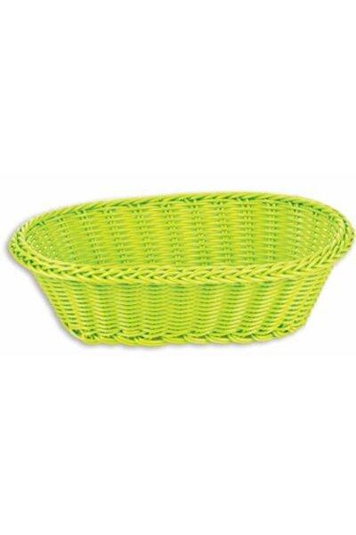Ekmek Sepeti Yeşil Renk Örme Plastik Matar Mutfak