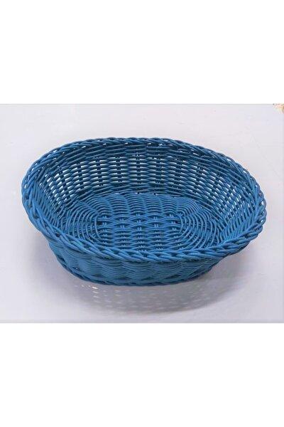 Ekmek Sepeti Mavi Örme Plastik Matar Mutfak
