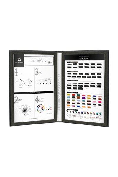 Dlux Professional Eyelash Book - Ipek Kirpik Kataloğu
