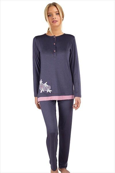 Kadın Antrasit Pijama Takımı 59523