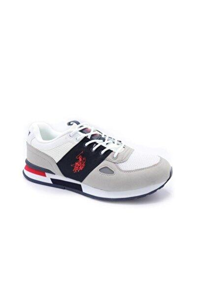 Erkek Beyaz Gri Ayakkabı